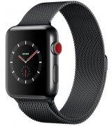 Apple Watch Series 3 38mm (GPS+LTE) Space Black Stainless Steel Case with Space Black Milanese Loop (MR1H2)