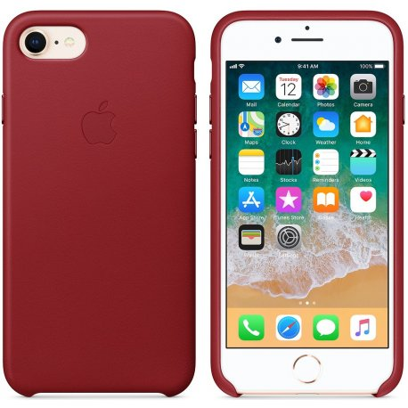 Чехол Apple iPhone 8 Leather Case (Product) Red (MQHA2)