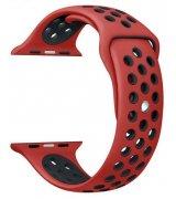 Спортивный ремешок Nike+ Sport Band для Apple Watch 38mm Red-Black