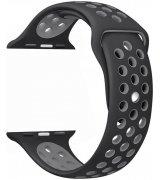 Спортивный ремешок Nike+ Sport Band для Apple Watch 38mm Black-Grey