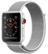 Apple Watch Series 3 42mm (GPS+LTE) Silver Aluminum Case with Seashell Sport Loop (MQK52)