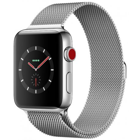 Apple Watch Series 3 38mm (GPS) Stainless Steel Case with Milanese Loop (MR1F2)