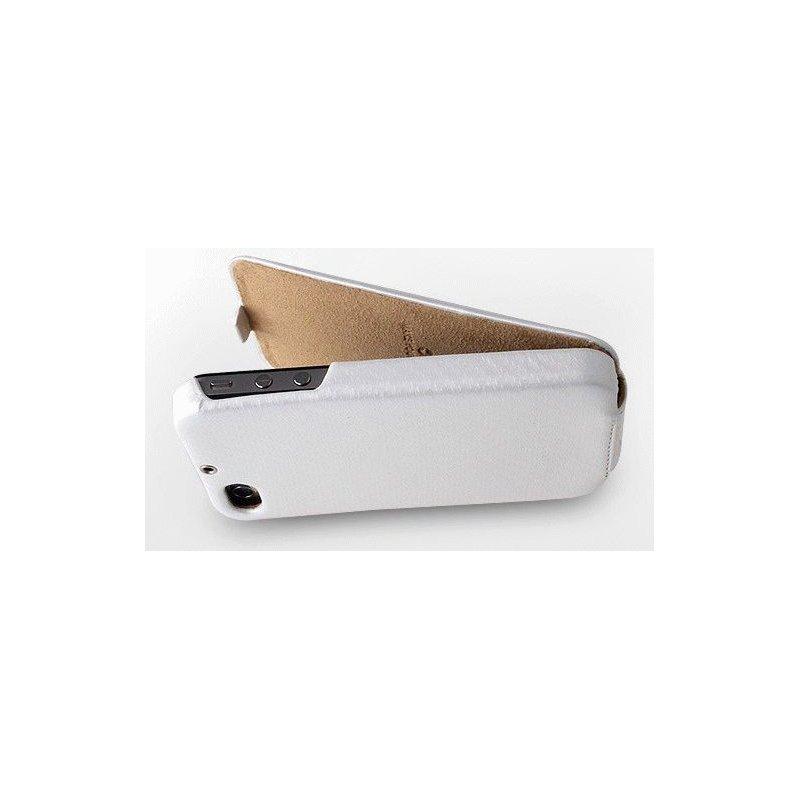 Кожаный чехол Zenus Prestige Carbon Series Folder Type Black для iPhone 4