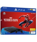 PlayStation 4 Slim 1TB Black (CUH-2108B) Bundle + Marvel Человек-паук