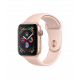 Apple Watch Series 4 44mm (GPS) Gold Aluminum Case with Pink Sand Sport Band (MU6F2)