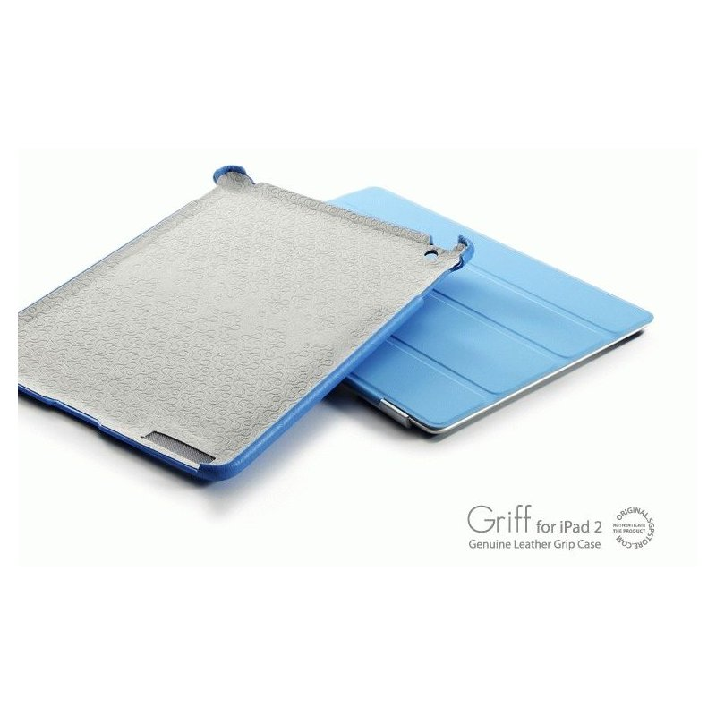 Кожаная накладка SGP Griff Grip Case Tender Blue for iPad 2