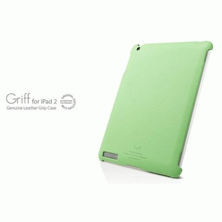 Кожаная накладка SGP Griff Grip Case Lime for iPad 2