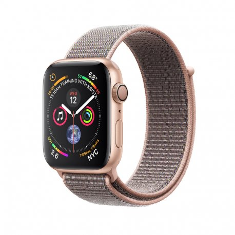Apple Watch Series 4 44mm (GPS) Gold Aluminum Case with Pink Sand Sport Loop (MU6G2)