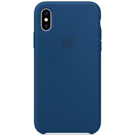 Чехол Apple iPhone XS Silicone Case Blue Horizon (MTF92)