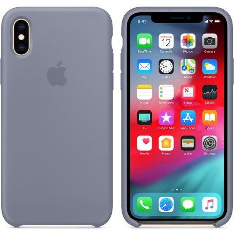 Чехол Apple iPhone XS Silicone Case Lavender Gray (MTFC2)