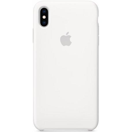 Чехол Apple iPhone XS Max Silicone Case White (MRWF2)