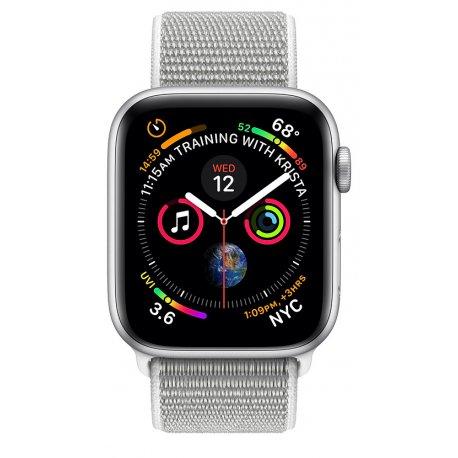 Apple Watch Series 4 40mm (GPS) Silver Aluminum Case with Seashell Sport Loop (MU652)