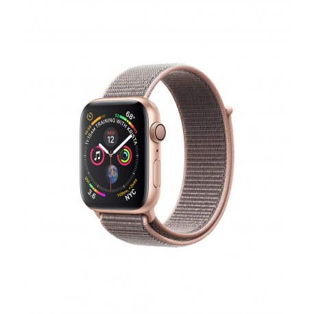 Apple Watch Series 4 40mm (GPS) Gold Aluminum Case with Pink Sand Sport Loop (MU692)