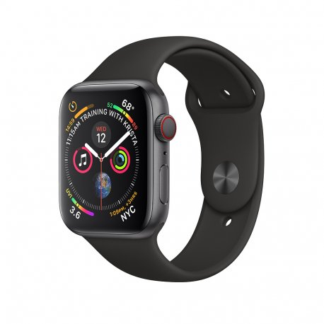 Apple Watch Series 4 40mm (GPS+LTE) Space Gray Aluminum Case with Black Sport Band (MTVU2/MTUW2)
