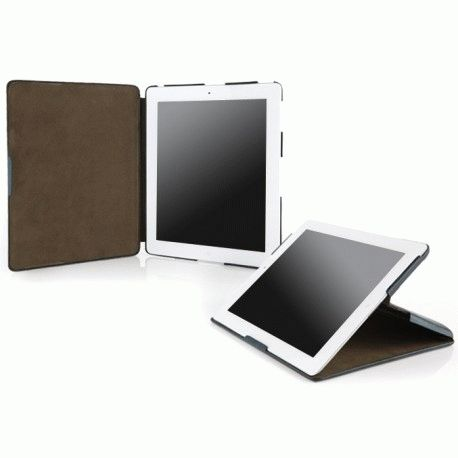 Кожаный чехол Zenus для Apple iPad 2 Prestige Stand Black Lizard