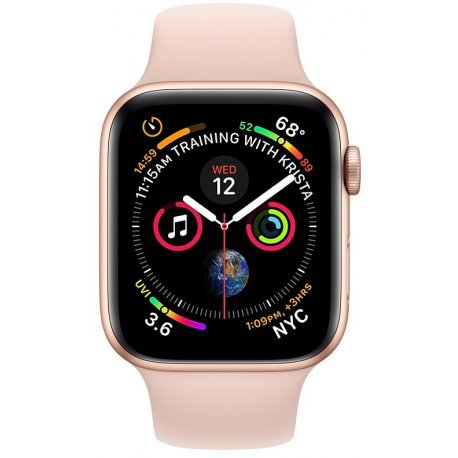 Apple Watch Series 4 40mm (GPS+LTE) Gold Aluminum Case with Pink Sand Sport Band (MTVG2/MTUJ2)