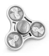 Fidget Spinner Cent Silver