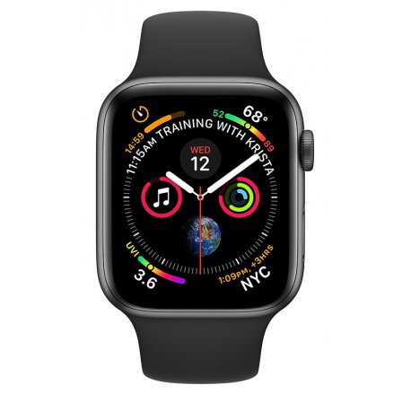 Apple Watch Series 4 40mm (GPS+LTE) Space Gray Aluminum Case with Black Sport Band (MTVD2/MTUG2)