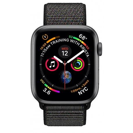 Apple Watch Series 4 40mm (GPS) Space Gray Aluminum Case with Black Sport Loop (MU672)