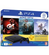 Sony PlayStation 4 Slim 1TB + Horizon Zero Dawn. Complete Edition + God of War + Gran Turismo + PSPlus 3 месяца