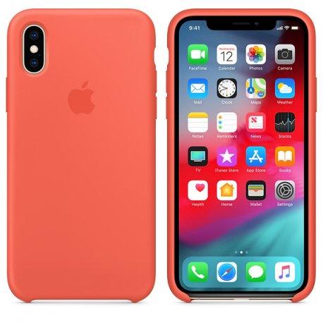 Чехол Apple iPhone XS Silicone Case Nectarine (MTFA2)