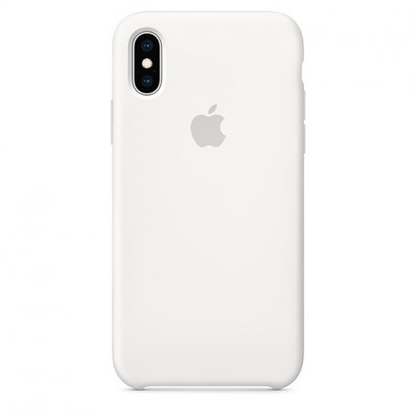 Чехол Apple iPhone XS Silicone Case White (MRW82)