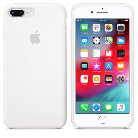 Чехол Apple iPhone 8 Plus/ 7 Plus Silicone Case White (MQGX2)