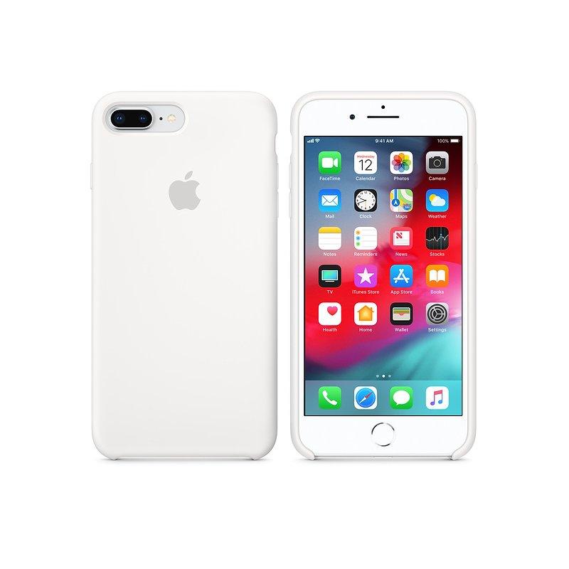Чехол Apple iPhone 8 Plus/ 7 Plus Silicone Case White (MQGX2)