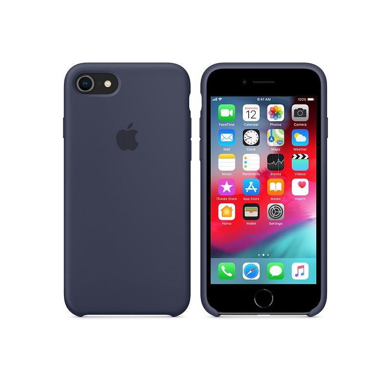 Чехол Apple iPhone 8 Silicone Case Midnight Blue (MQGM2)