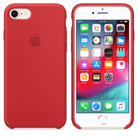 Чехол Apple iPhone 8 Silicone Case (Product) Red (MQGP2)