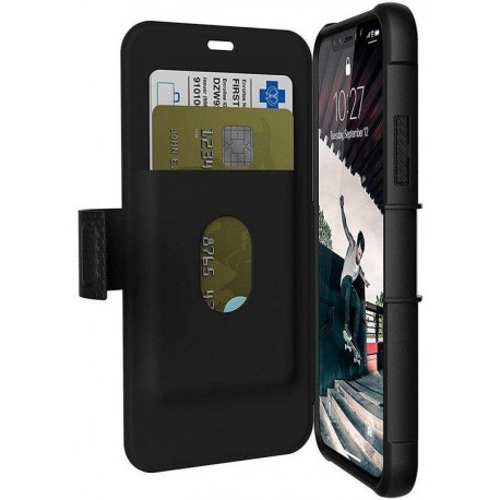 Чехол-книжка Urban Armor Gear (UAG) Metropolis для Apple iPhone X/Xs Black (IPHX-E-BL)