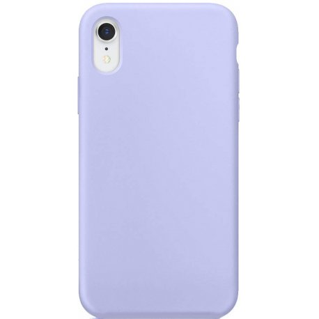 Накладка Silicone Case для Apple iPhone XR Lilac Cream