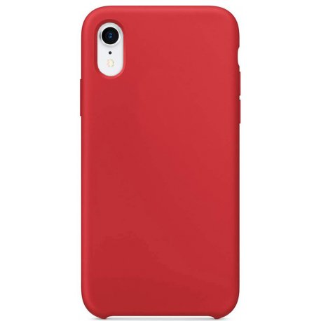 Накладка Silicone Case для Apple iPhone XR Red