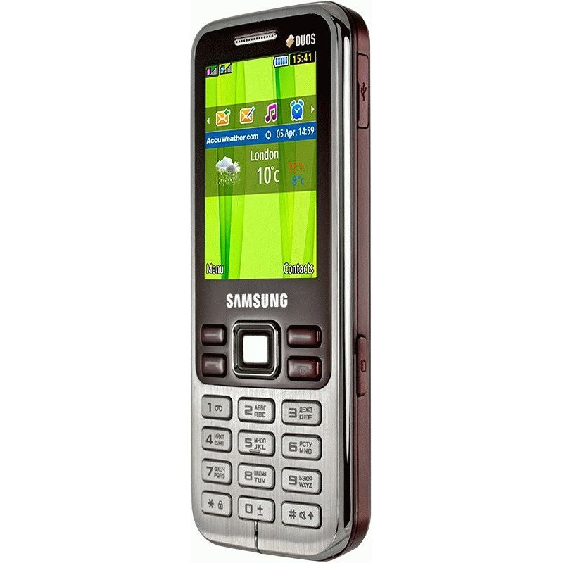 Samsung C3322 Duos Wine Red