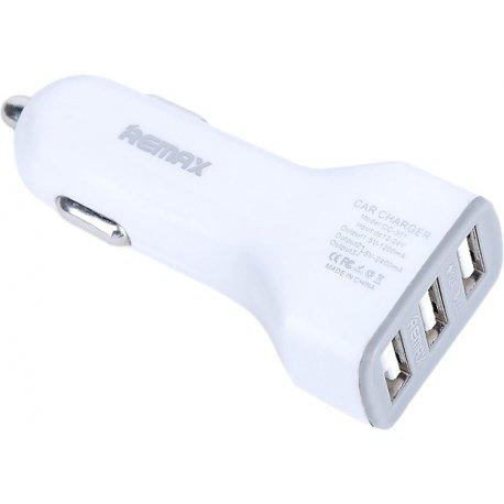 Автомобильное зарядное устройство Remax Car charger 3 USB White