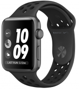 Apple Watch Series 3 Nike+ 42mm (GPS) Space Gray Aluminum Case with Anthracite/Black Nike Sport Band (MTF42)