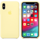 Чехол Apple iPhone XS Silicone Case Mellow Yellow (MUJV2)