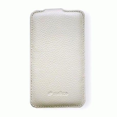 Кожаный чехол Melkco Flip (JT) для Samsung i9100 Galaxy S 2 White