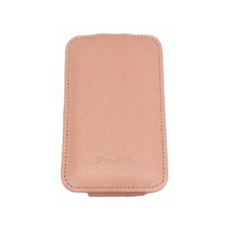 Кожаный чехол Melkco Flip (JT) для HTC Wildfire S A510e Pink