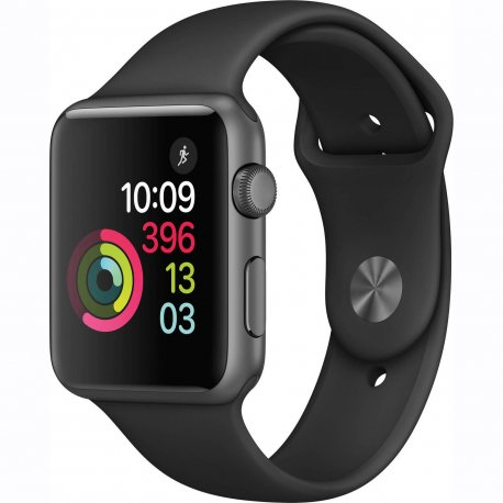 Apple Watch Series 1 42 mm Space Gray Aluminum Case with Black Sport Band (MP032)