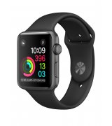 Apple Watch Series 1 38 mm Space Gray Aluminum Case with Black Sport Band (MP022)