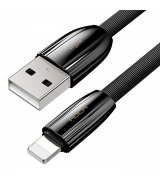 Кабель Rock Ceramic Lightning Cable (1m) Bllack