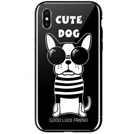Чeхол WK для Apple iPhone XS Max (WPC-087) Cute Dog Black
