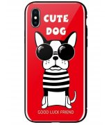 Чeхол WK для Apple iPhone XS Max (WPC-087) Cute Dog Red