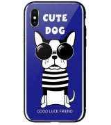 Чeхол WK для Apple iPhone XS (WPC-087) Cute Dog Blue