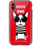 Чeхол WK для Apple iPhone XS (WPC-087) Cute Dog Red
