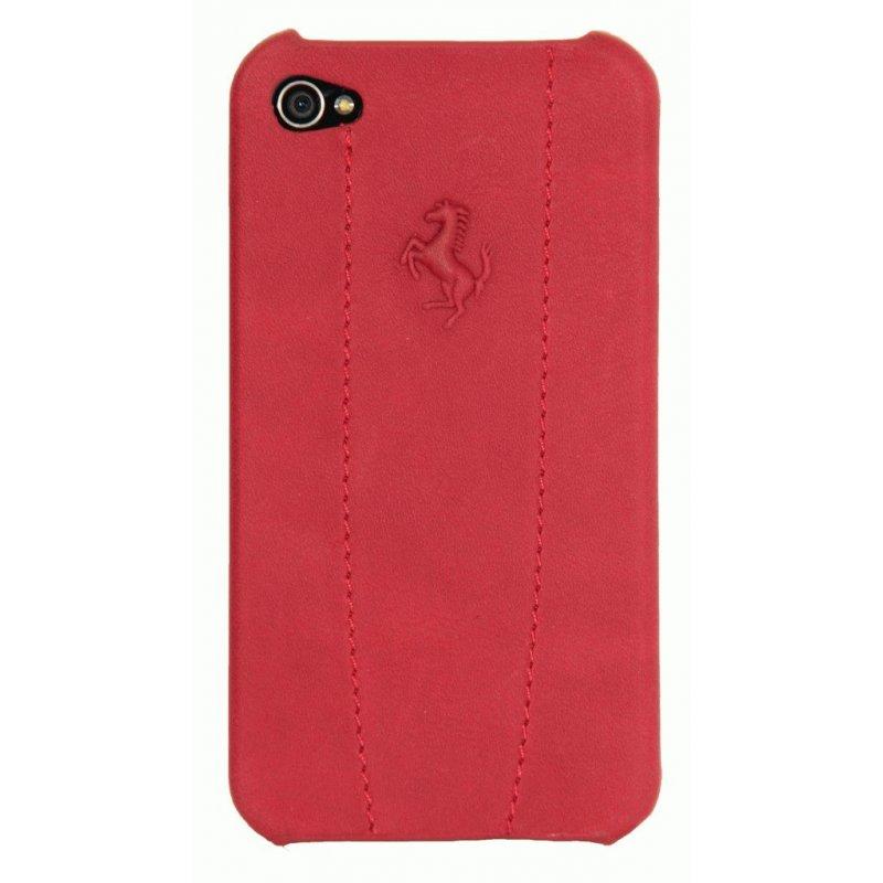 CG Ferrari Modena кожаная накладка для iPhone 4/4S Red