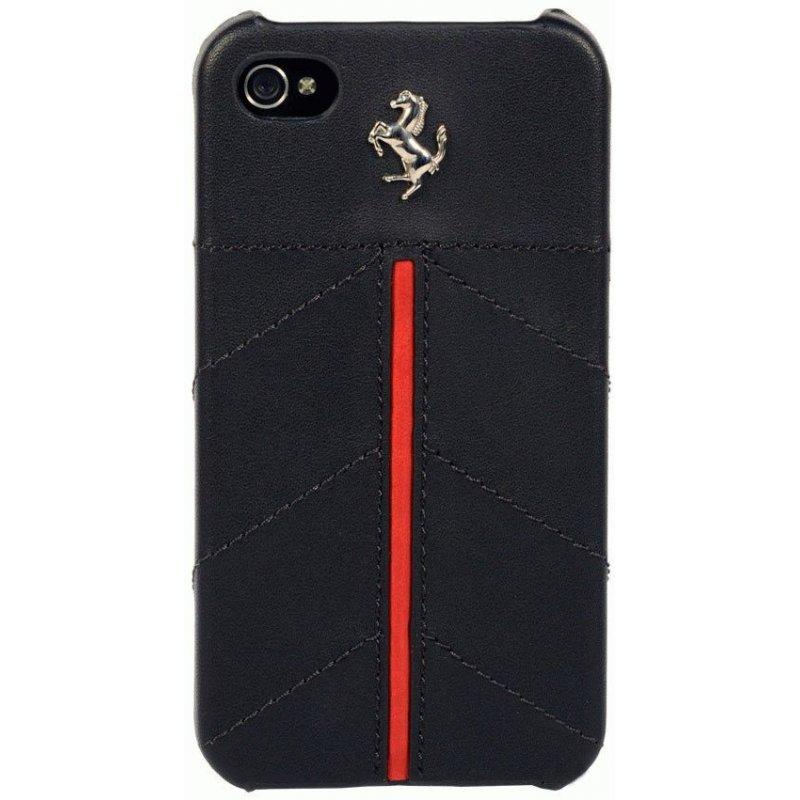CG Ferrari California кожаная накладка для iPhone 4/4S Black
