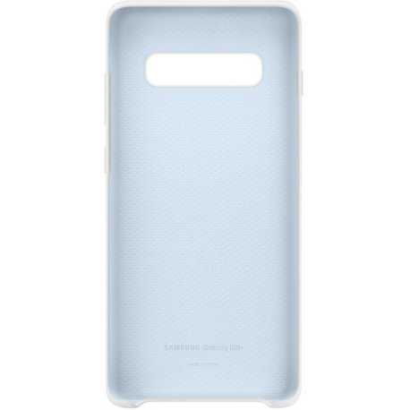 Накладка Silicone Cover для Samsung Galaxy S10 Plus White (EF-PG975TWEGRU)