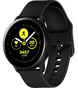 Умные часы Samsung Galaxy Watch Active Black (SM-R500NZKASEK) + Карта памяти Samsung Evo на 64Gb в подарок!